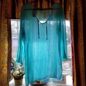 Other - Gorgeous Aqua Sheer Coverup